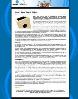 MusicRadar.com Meinl Bass Pedal Cajon