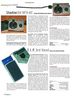 Guitar Shorties: Shadow SH NFX-AC & T.I.P. 3rd Hand
