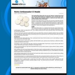 MusicRadar.com Remo Ambassador X Heads
