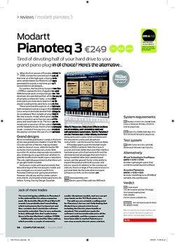 Computer Music Pianoteq 3