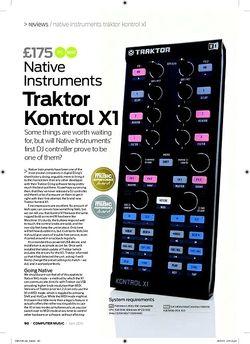 Computer Music Traktor Kontrol X1