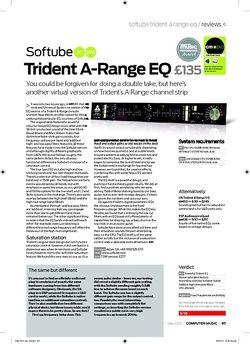 Computer Music Softube Trident ARange EQ