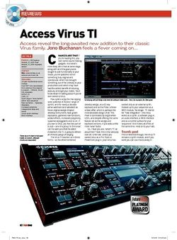Future Music Access Virus TI