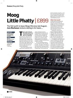 Future Music Moog Little Phatty