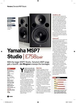 Future Music Yamaha MSP7 Studio
