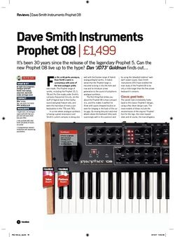Future Music Dave Smith Instruments Prophet 08