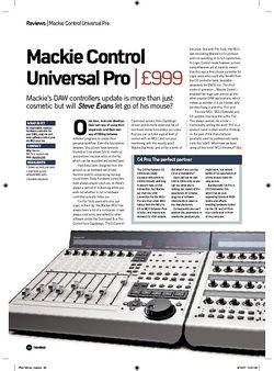 Future Music Mackie Control Universal Pro