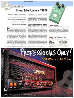 Guitar Test: Ibanez Tube Screamer TS808