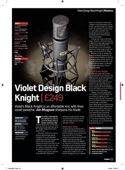 Future Music Violet Design Black Knight