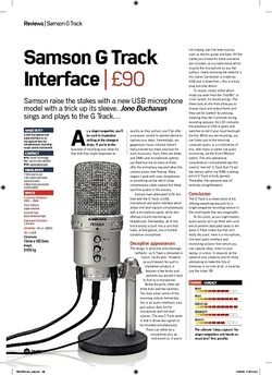Future Music Samson G Track Interface