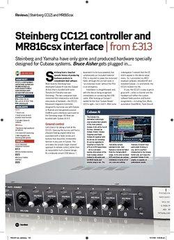 Future Music Steinberg CC121 controller