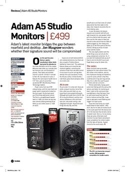 Future Music Adam A5 Studio Monitors