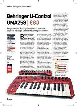 Future Music Behringer UControl UMA25S