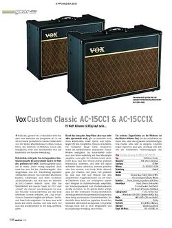 Guitar Test: Vox AC-15CC1 & AC-15CC1X