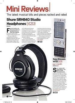 Future Music Shure SRH840