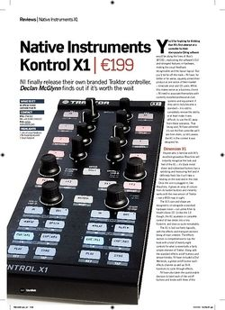 Future Music Native Instruments Kontrol X1