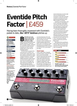 Future Music Eventide Pitch Factor