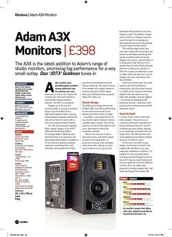Future Music Adam A3X Monitors
