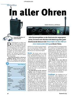 Tastenwelt Test: Shure PSM 200 - In aller Ohren