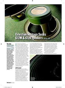 Guitarist Celestion Heritage Series G12H speakers