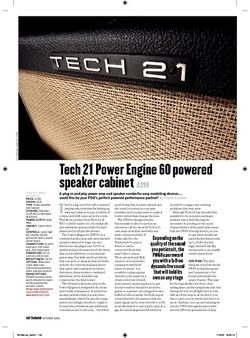 Guitarist Tech 21 Power Engine 60 Powered Speaker Cabinet
