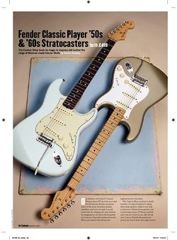 Guitarist Fender Classic Player 60S Strat