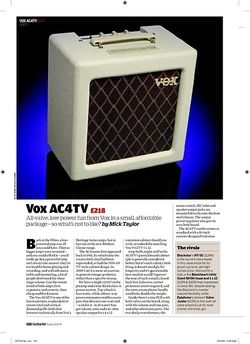 Guitarist Vox AC4TV