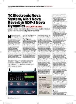 Guitarist TC Electronic Nova System