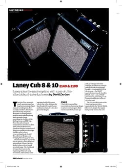 Guitarist Laney Cub 10