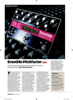 Guitarist Eventide Pitchfactor
