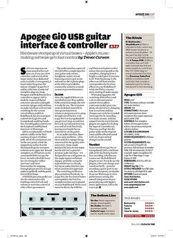 Guitarist Apogee GiO USB guitar interface and controller