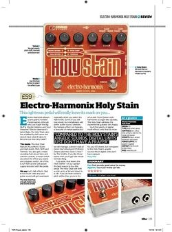Total Guitar ElectroHarmonix Holy Stain