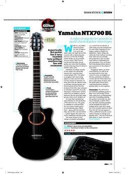 Total Guitar Yamaha NTX700 BL