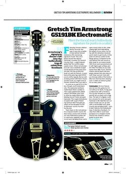 Total Guitar Gretsch Tim Armstrong G5191BK Electromatic