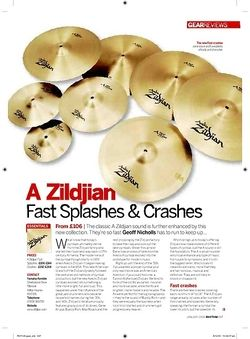 Rhythm A Zildjian Fast Splashes and Crashes