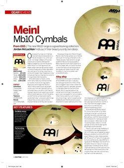 Rhythm Meinl Mb10 Cymbals