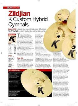 Rhythm Zildjian K Custom Hybrid Cymbals