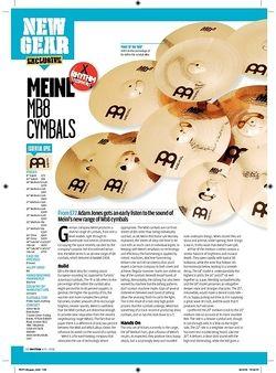 Rhythm Meinl MB8 cymbals