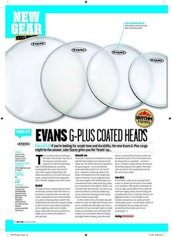 Rhythm Evans GPlus Coated heads