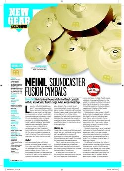 Rhythm Meinl Soundcaster FUSIONCYMBALS