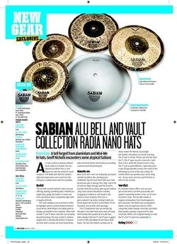 Rhythm SABIAN ALU BELL AND VAULT COLLECTION RADIA NANO HATS