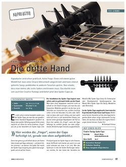 Soundcheck Test: Creative Tunings Spider Capo - Die dritte Hand