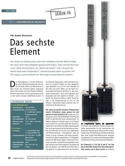 Soundcheck Test: HK Audio Elements (Teil I) - Das sechste Element