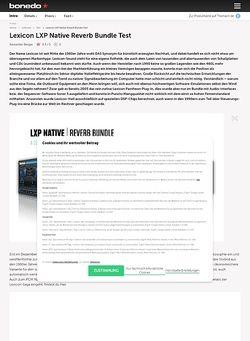 Bonedo.de Lexicon LXP Native Reverb
