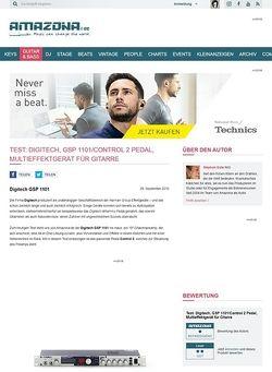 Amazona.de Test: Digitech, GSP 1101/Control 2 Pedal, Multieffektgerät für Gitarre