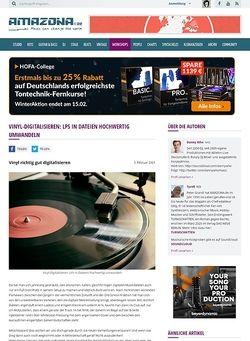 Amazona.de Special: Hochwertige Vinyldigitalisierung Teil 1