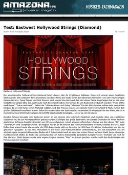 Amazona.de Test: Eastwest, Hollywood Strings (Diamond)