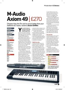 Future Music M-Audio Axiom 49
