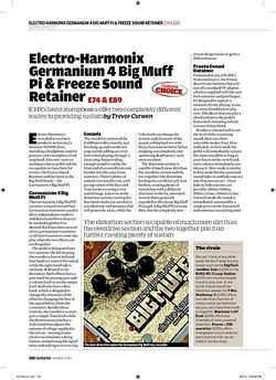 Guitarist Electro-Harmonix Freeze Sound Retainer