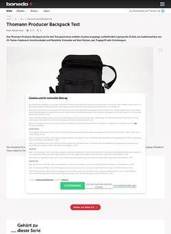 Bonedo.de Thomann Producer Backpack